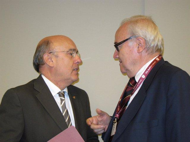 El Conseller De Salud, Boi Ruiz, Y El Presidente Del ICS, Josep Prat