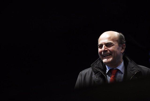 El líder del Partido Democrático, Pierluigi Bersani