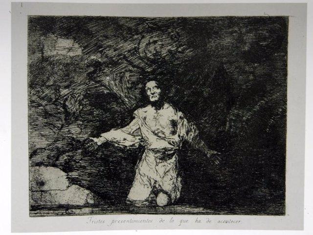 grabado 'Tristes presentimientos de lo que ha de acontecer', de Francisco de Goy