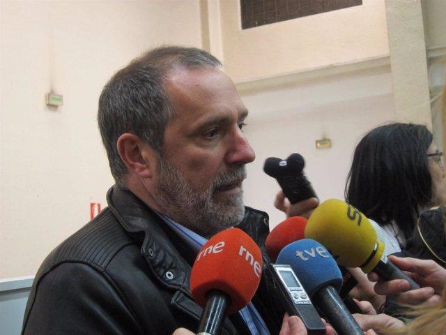 El vicesecretario general de la sección sindical de CaixaBank Josu Pardo, de UGT