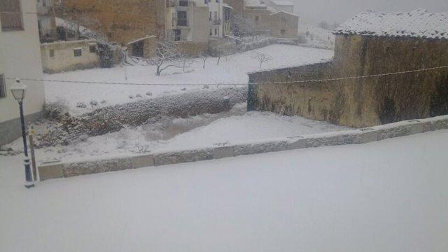 Imagen de nieve en el interior de CAstellón