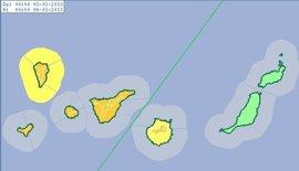 La Aemet activa para el domingo el aviso naranja en la provincia tinerfeña y en Gran Canaria por viento y lluvia