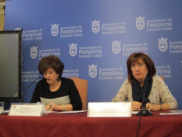 Ana Lezcano y María Jesús Vicente.