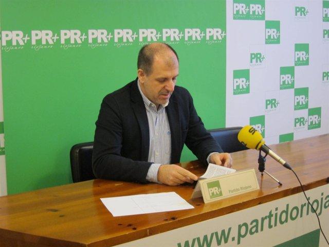 El presidente de PR+ riojanos, Miguel González de Legarra