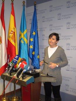 La alcaldesa de Gijón Carmen Moriyón