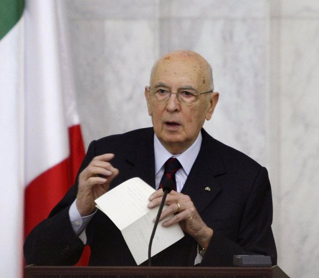 El presidente de Italia, Giorgio Napolitano