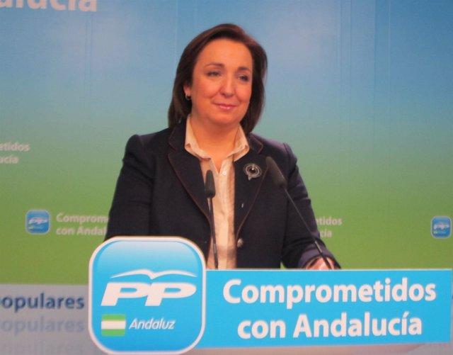 La vicesecretaria de Organización del PP-A, Ana Corredera, hoy en Sevilla