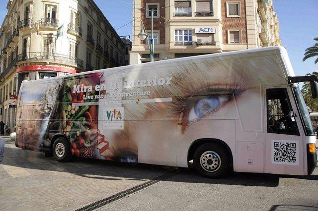 Bus VITA para promocionar turismo de interior Málaga