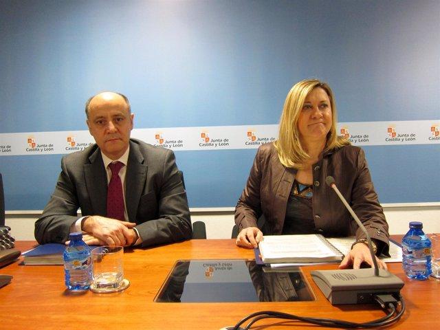 Pilar del Olmo (d) presenta la contabilidad regional de 2012