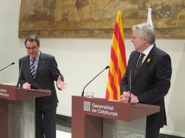 Artur Mas (pte.Generalitat) Carwyn Jones (primer ministro de Gales)