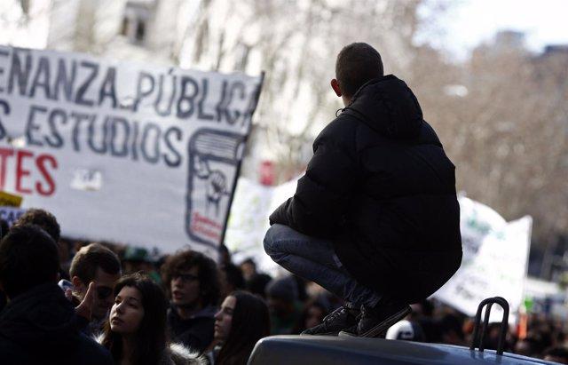 Manifestación de estudiantes de secundaria