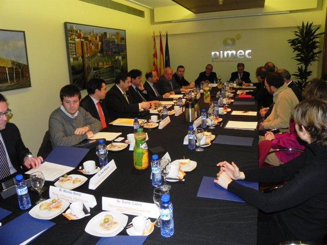 Reunión del conseller J.M.Pelegrí con Pimec Agroalimentario