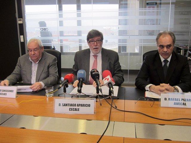 Horacio Sansegundo, Santiago Aparicio y Rafael Pizarro.