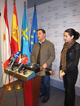 Concejales del PP en Gijón