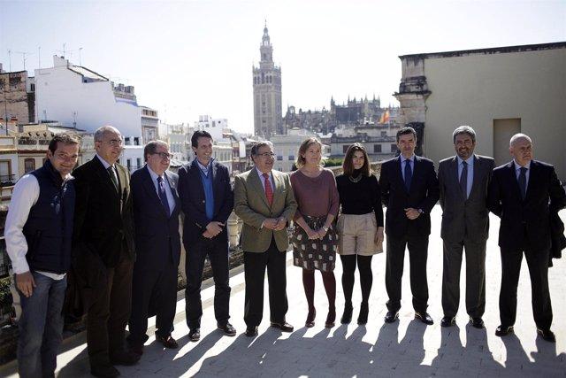Presentación del Derbi de las Aficiones del Betis y el Sevilla