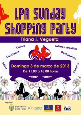 Cartel LPA Sunday Shopping Party