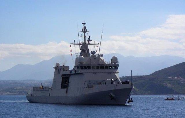 El buque Rayo de la Armada
