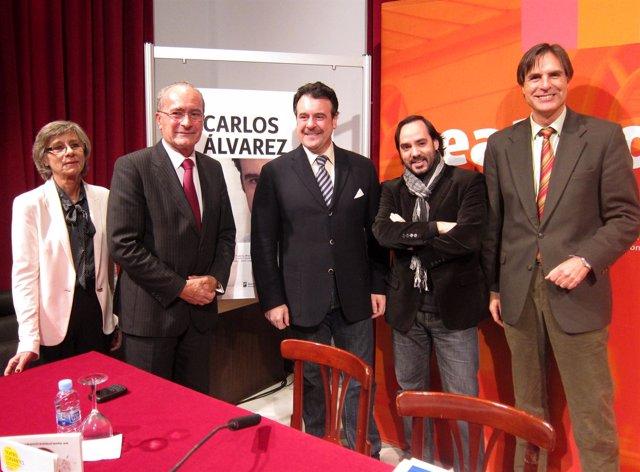 El alcalde de Málaga, Francisco de la Torre, y el barítono Carlos Álvarez