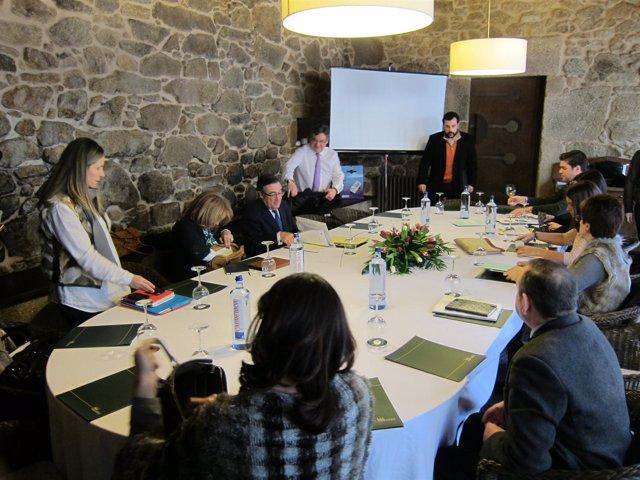 Reunión de trabajo del grupo municipal del Ayuntamiento de Santiago