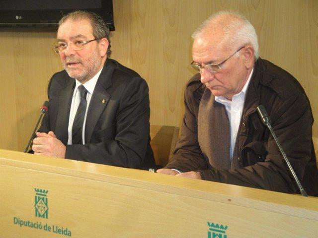 Joan Reñé (Diputación de Lleida) y Joan Saura (Bienestar y Familia)