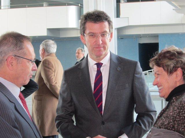 El presidente de la Xunta en un acto en Vigo