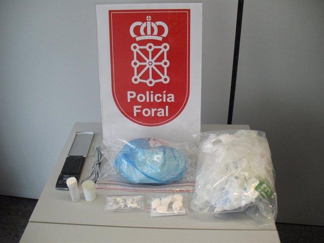 Droga incautada por la Policía Foral.