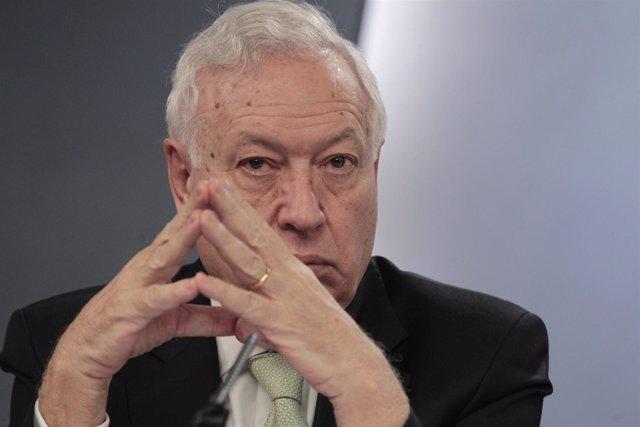 José Manuel García-Margallo durante el Consejo de Ministros 1-03-13