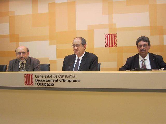 Conseller Felip Puig y el dtor. Gral. De comercio J.M.Recasens
