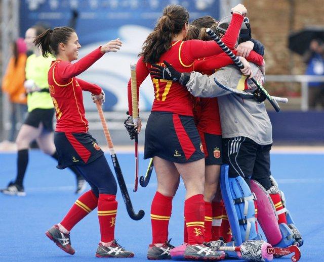 España vence a Italia en penaltis en la Liga Mundial de hockey hierba