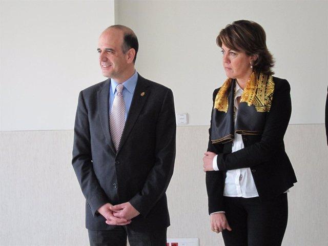 Alberto Catalán y Yolanda Barcina.