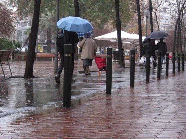 Lluvia en Barcelona