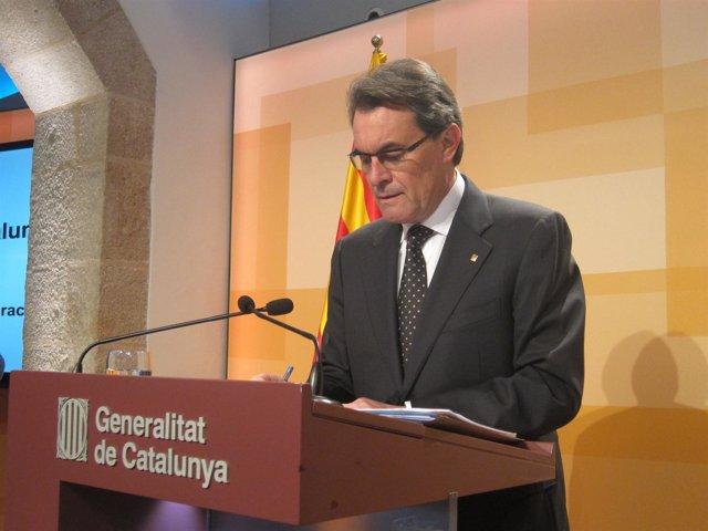 Artur Mas, pte.De la Generalitat (ARCHIVO)