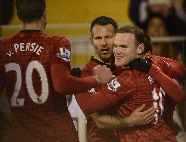Wayne Rooney celebra el gol de la victoria