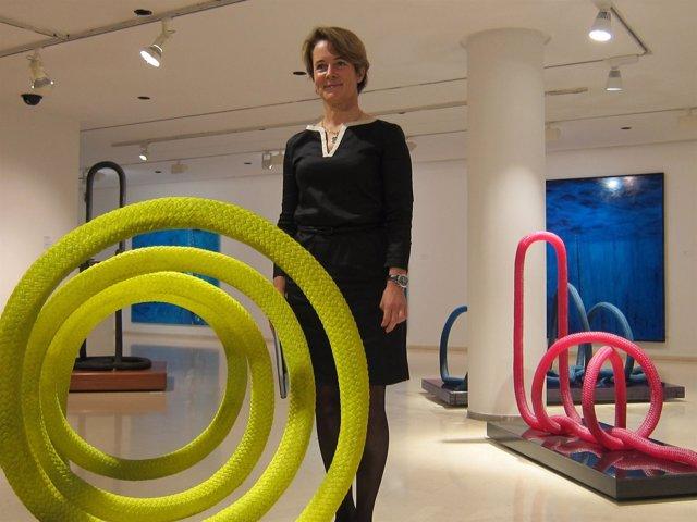 Mónica Ridruejo tras presentar su exposición 'Eikonoma' en el IVAM