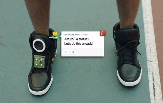 'Talking Shoes', Las Zapatillas Inteligentes Con Android De Google