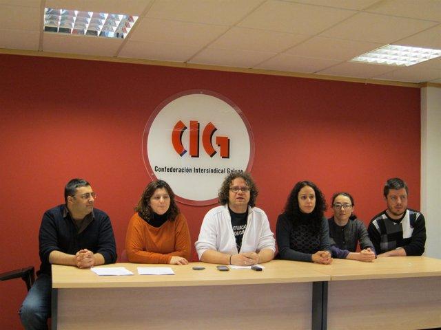 Rueda de prensa de CIG sobre las sentencias por los despidos en Agader