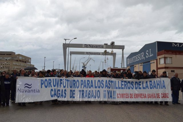 Movilización de los trabajadores de Navantia