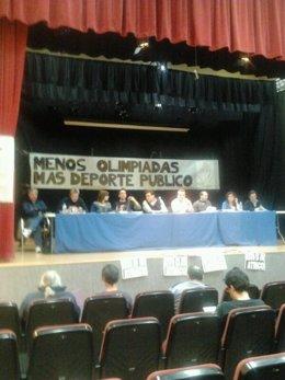 Imagen de la asamblea de trabajadores