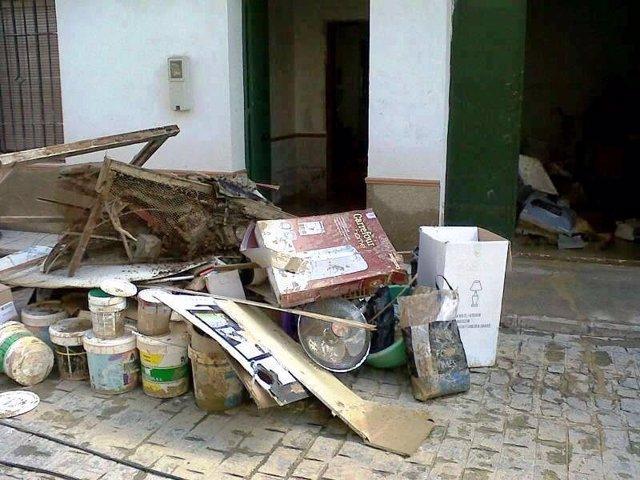Efectos de las inundaciones en Écija