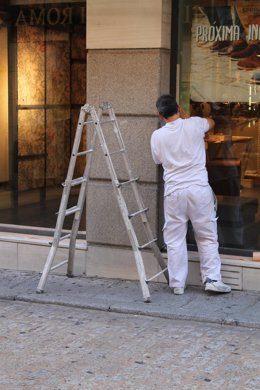 Trabajadores, trabajo, pintor, paro