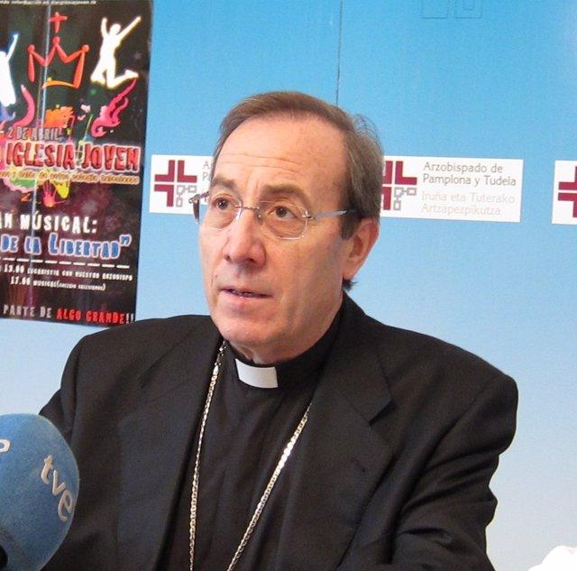 El Arzobispo De Pamplona Y Obispo De Tudela, Francisco Pérez González.