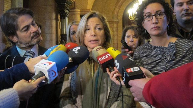 Oriol Pujol (CDC), vicepta.Joana Ortega (UDC), Marta Rovira (ERC)