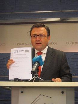 Coordinador de la interparlamentaria del PSOE-A y diputado, Miguel Ángel Heredia