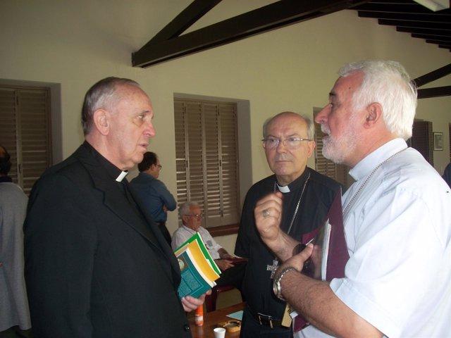 Obispo de Plasencia con el Papa Francisco