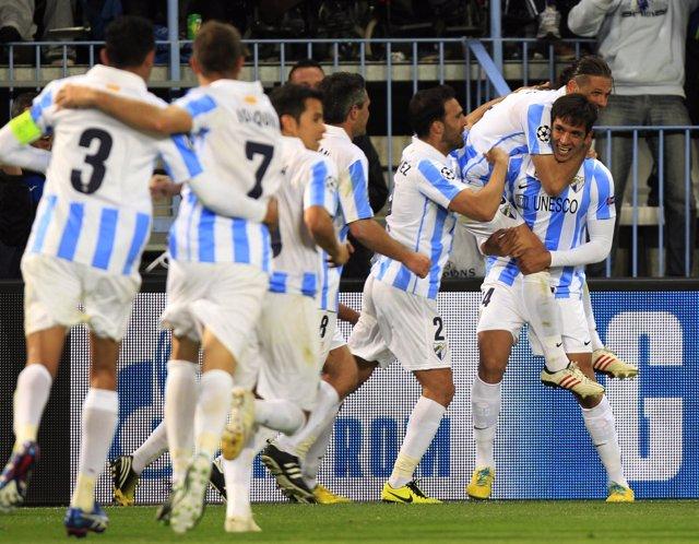 El Málaga accede a cuartos de final de la Champions tras vencer al Oporto