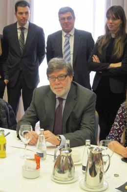 El presidente de Cecale, Santiago Aparicio