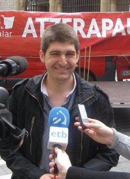 Aritz Romeo, vicecoordinador de Aralar en Navarra.