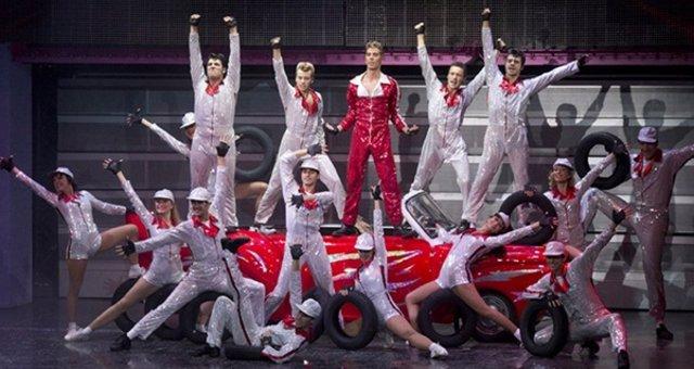 Escena del musical Grease