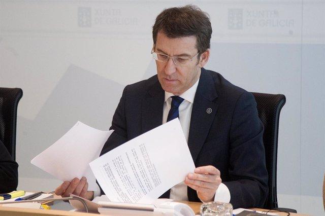 Alberto Núñez Feijóo, papeles en la Xunta
