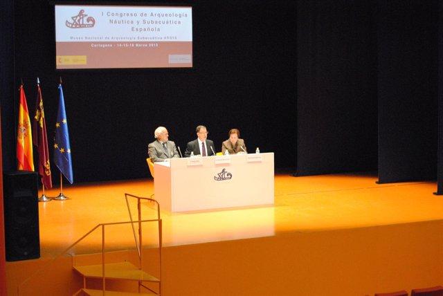 Inauguración del I Congreso de Arqueología Náutica y Subacuática española